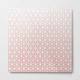 Cubes pattern pink Metal Print