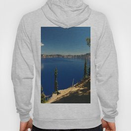 The Deep Blue Of The Crater Lake Hoody