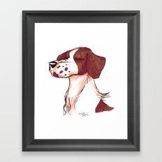 Brush Breeds-Brittany Spaniel Framed Art Print