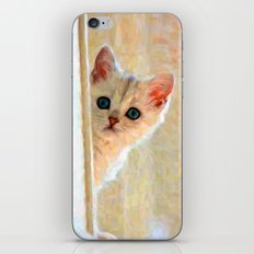 Kitten By The Window - Painting Style iPhone & iPod Skin