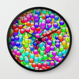 Rainbow Candies Wall Clock