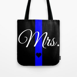 Thin Blue Line Mrs. Pillow Tote Bag