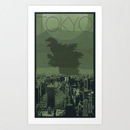 Every City Has Its Creature - Tokyo Art Print