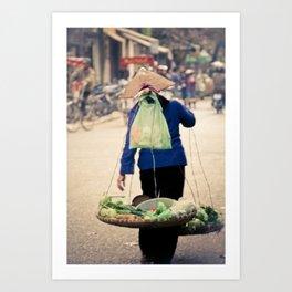 The seller Art Print