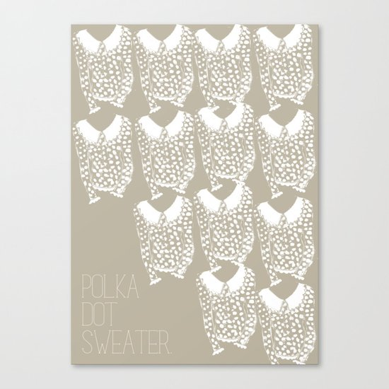 Polka Dot Sweater Canvas Print