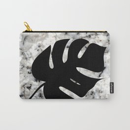 Tropical Leaves on Marble - Monstera II Carry-All Pouch