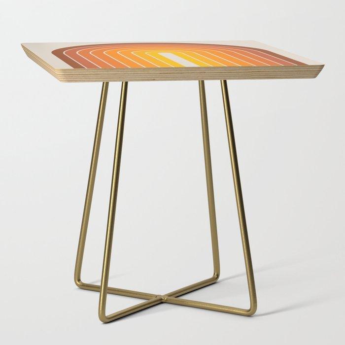 Gradient Arch - Vintage Orange Side Table