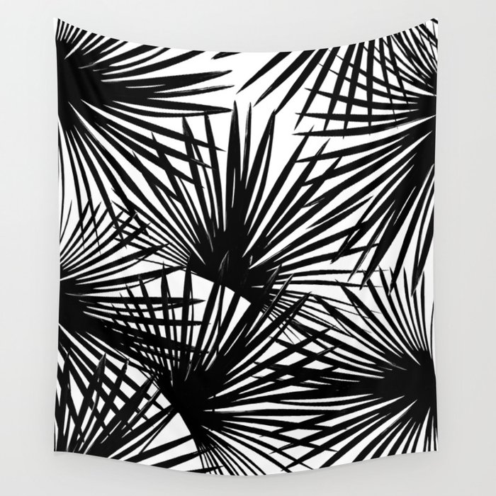 Tropical Fan Palm Leaves #2 #tropical #decor #art #society6 Wall Tapestry
