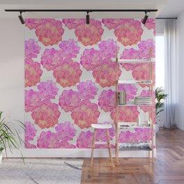 Rosette Succulents – Pink Palette Wall Mural