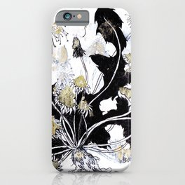 Gold Dandelions iPhone Case