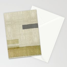 """Burlap Texture Natural Shades"" Stationery Cards"