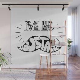Mr Moustache Wall Mural