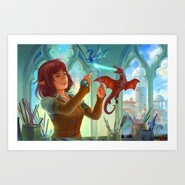 The Glass Sculptor Art Print
