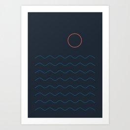 La Mer (Nuit) Seascape Art Print