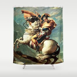 France's Napoleon Crossing the Alps Shower Curtain