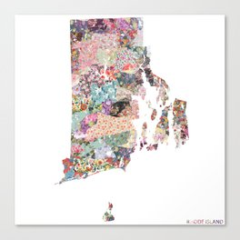 Rhode Island map Canvas Print