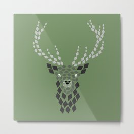 Diamond Mosaic Stag Metal Print