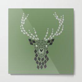 Diamond Mosaic Stag Metal Print