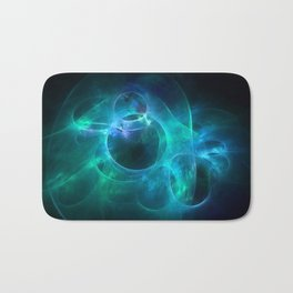 Aqua Blue and Green Circles 1 Bath Mat