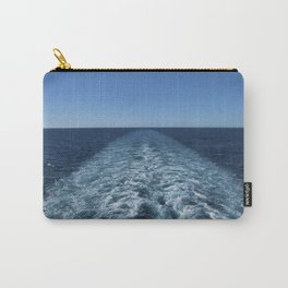 SEA BLUE WAKE AND HORIZON - Pacific Ocean Carry-All Pouch