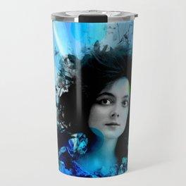 Psychedelic Moments Blue Travel Mug
