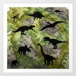 Dino Land Art Print
