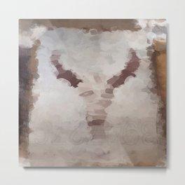 Car Part Cow Skull Metal Print