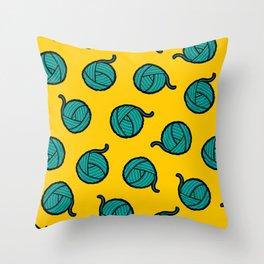 Wool & Yarn Pattern Throw Pillow