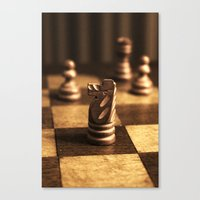 chess Canvas Prints featuring Chess by Janelle