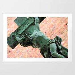 Jesus in Montparnasse Art Print