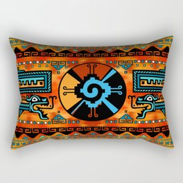 Colorful Hunab Ku Mayan symbol #6 Rectangular Pillow