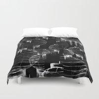 lantern Duvet Covers featuring Lantern - black by Emma Stein