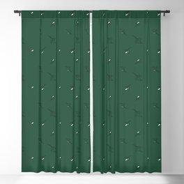 Floral Abstract Dark Green #emerald #green #home #decor #kirovair #holidays #floral #pattern Blackout Curtain