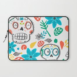 Summer sugar skulls Laptop Sleeve