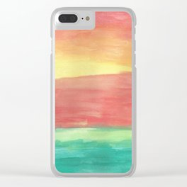 Sunset Shore Clear iPhone Case