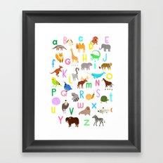 Animal Alphabet Framed Art Print
