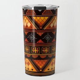 Modern Native American Pattern Travel Mug