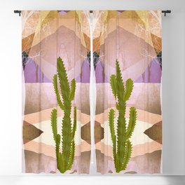 CACTUS INTO GEOMETRIC LANDSCAPE Blackout Curtain