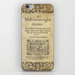 Shakespeare. A midsummer night's dream, 1600 iPhone Skin
