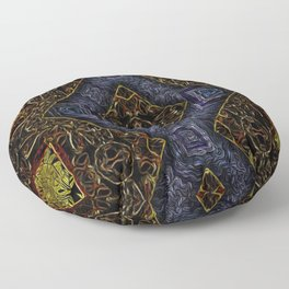 Geometrical Motif Stained Glass Floor Pillow