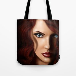 Scarlett Johansson as Black Widow Tote Bag
