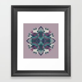 Geometric mandala pattern 2 Framed Art Print