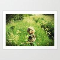 Memory of a meadow Art Print