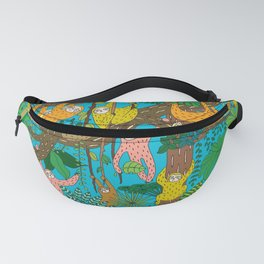 Happy Sloths Jungle Fanny Pack