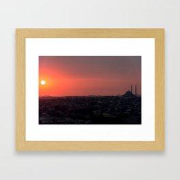 Sunset in Istanbul Framed Art Print