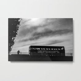 Man & London Bus Metal Print