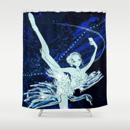 Cygnus / Leda and Swany Shower Curtain