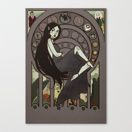 Queen of Darkness Canvas Print