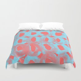 Paint Circles Pattern - Red and Blue Duvet Cover