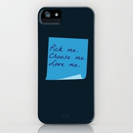Pick Me. Choose Me. Love Me. (MerDer, Grey's Anatomy) iPhone Case